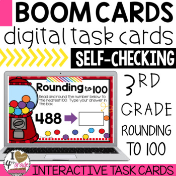 Rounding Boom Cards (3 digits to the nearest 100)