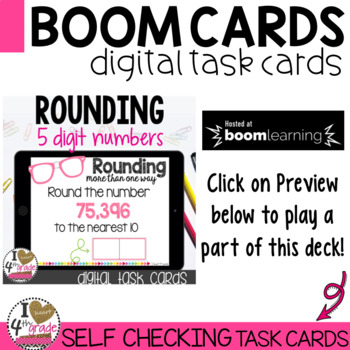 Rounding Boom Cards (5 digit numbers)