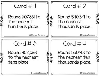 Rounding Task Cards