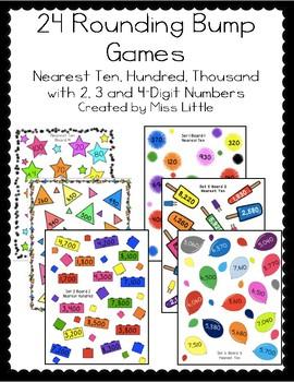 Rounding Bump Games: Nearest Ten, Hundred, and Thousand