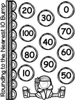 2 Rounding Bump Games (nearest 10 and 100) Common Core 3.NBT.1