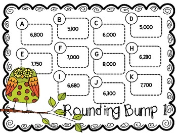 Rounding Bump-Two Games for Rounding Numbers Through 9,999