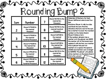 Rounding Bump-Two Games for Rounding Numbers through Millions