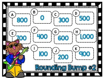Rounding Bump-Two Games for Rounding Three Digit Numbers