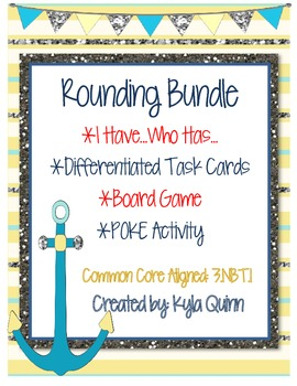 Rounding Bundle: I Have...Who Has; Task Cards; Game; POKE