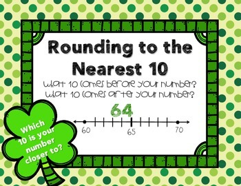St. Patrick's Day Math: Rounding Bundle with QR Codes