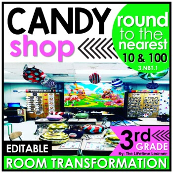 Rounding  - Candy Shop Real World Math Activity