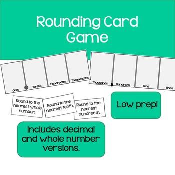 Rounding Card Game
