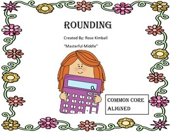 Rounding Cards, Place Value, Math Centers
