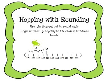 Frog Themed Rounding Center with Task Cards