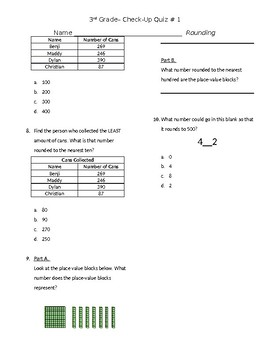 Rounding Check Up Quiz 3.NBT.1
