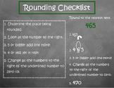 Rounding Checklist Anchor Chart