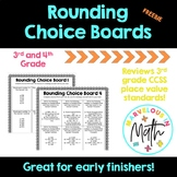 Rounding Choice Board FREEBIE