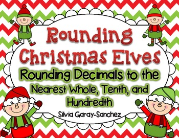 Rounding Christmas Elves Task Cards