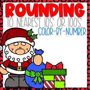 Rounding Color-By-Number Christmas Themed