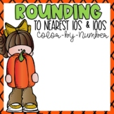 Rounding Color-By-Number Fall Themed