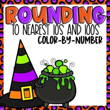 Rounding Color-By-Number Halloween Themed