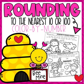 Rounding Color-By-Number Valentine Themed