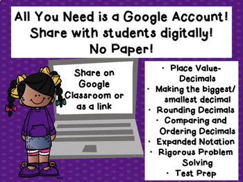 Rounding Comparing and Expanded Notation of Decimals Google Classroom