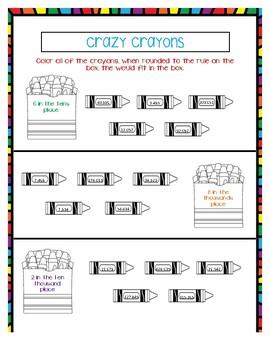 Rounding: Crazy Crayons