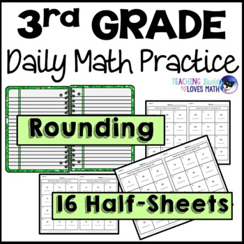 Rounding Daily Math Review 3rd Grade Bell Ringers Warm Ups
