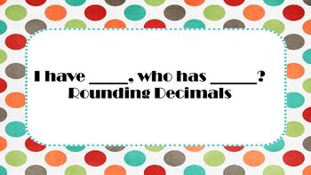 Rounding Decimal Game