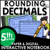 Rounding Decimal Interactive Notebook Set | Distance Learning