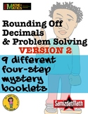 Rounding Decimal Mystery Booklets - Ones, Tenths, Hundredt
