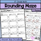 Rounding Decimal Number Maze (Tenths and Hundredths)