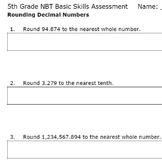 Rounding Decimal Numbers- Smarter Test Prep