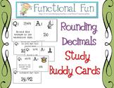 Rounding Decimal Numbers Study Buddy Cards