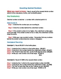 Rounding Decimal Numbers Study Guide and Practice (4 NBT a