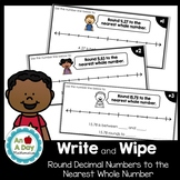 Rounding Decimal Numbers to the Nearest Whole Number on a Number Line