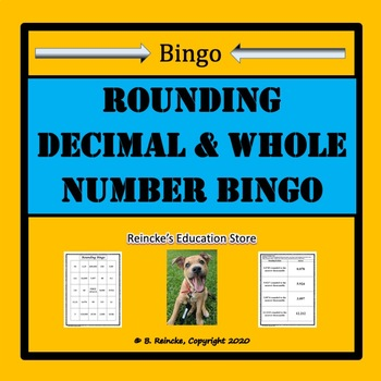 Rounding Decimal and Whole Number Bingo (30 pre-made cards!)