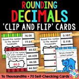 5th Grade Rounding Decimals Activity: Decimal Task Cards {5.NBT.4}