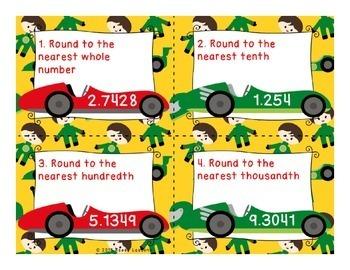 Rounding Decimals Task Cards Round Decimal 5th Grade Task Cards 5.NBT.4