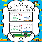 Rounding Decimals Game Puzzles - Whole, Tenth, Hundredth,