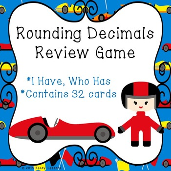 I Have Who Has Rounding Decimals Game (Whole Tenth Hundred