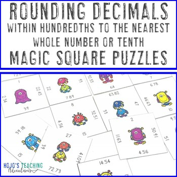 Rounding Decimals within Hundredths to the nearest whole number or tenth Game