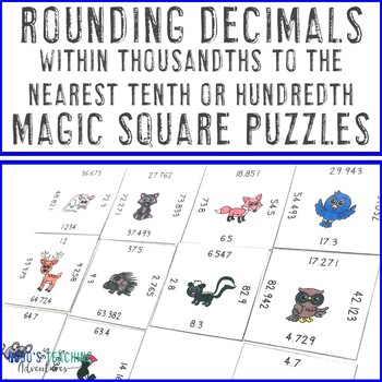 Rounding Decimals within Thousandths to the nearest tenth or hundredth Centers