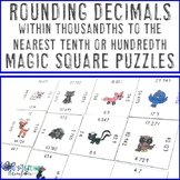 Rounding Decimals to the Nearest Tenth or Hundredth Game, Activity, or Puzzle