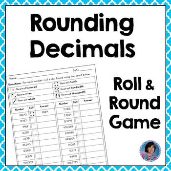 Rounding Decimals Game for Review, Intervention or Assessment {Ideal for Subs!}
