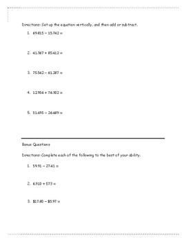 Rounding Decimals Test