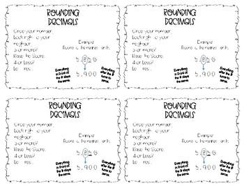 Rounding Decimals - Interactive Journal