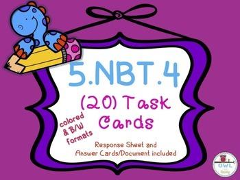 Rounding Decimals (5.NBT.4) Task Cards