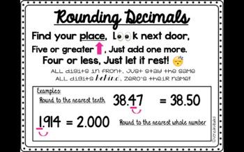 Rounding Decimals Anchor Chart by SenzaSquad   Teachers Pay Teachers