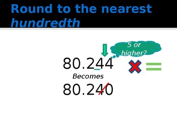 Rounding Decimals-Animated PowerPoint