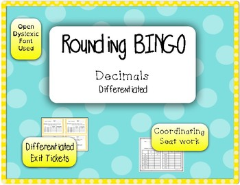 Rounding Game - BINGO - Decimals (set 2) {Differentiated}