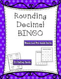 Rounding Decimals Game - BINGO