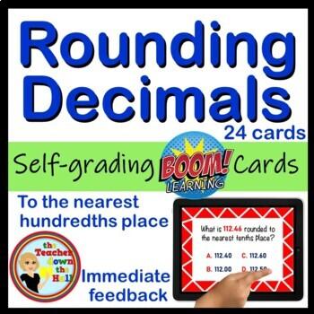 Rounding Decimals Boom Cards